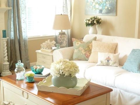 decoração-sala-branca-e-azul
