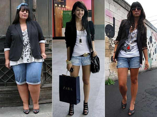 blazer preto feminino com shorts jeans 1