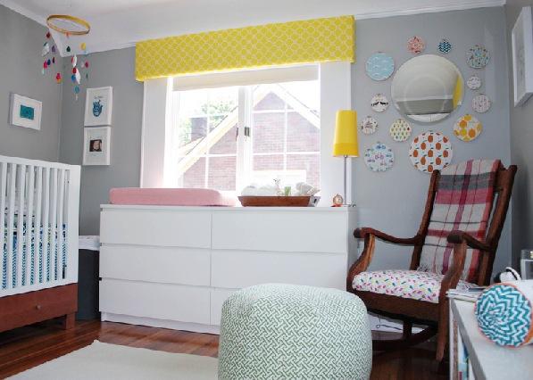 decoracao-quarto-bebe-cinza-amarelo
